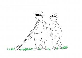 White cane