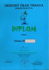 Deniska M. diplom